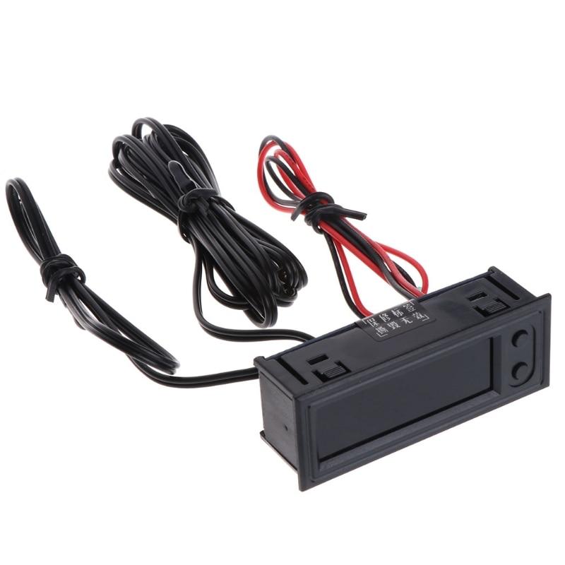 New DIY Multifunction Clock Car Temperature Battery Voltage Monitor Voltmeter DC 12V Measurement Ana
