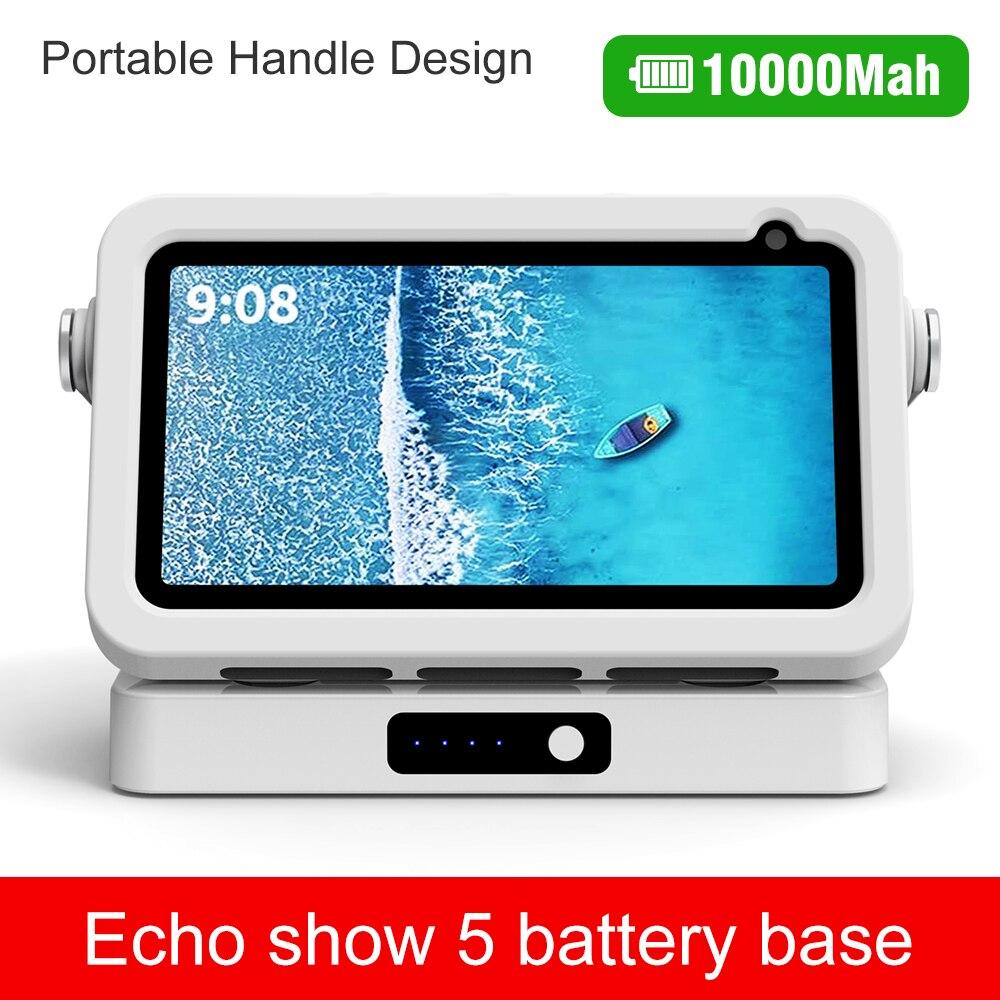 Cargador portátil para Echo Show 5, base de carga de batería, batería...