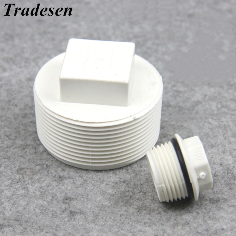 1/2, 3/4, 1 1,2, 1,5, 2 pulgadas conector ROSCADO MACHO PVC tubo tornillo estándar accesorio conector de tubería tubo tapas terminales accesorios de plomería
