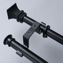 2020 New 2pcs Double Curtain Rod Brackets Window Hardware Hook Holder Hanger Home Decor