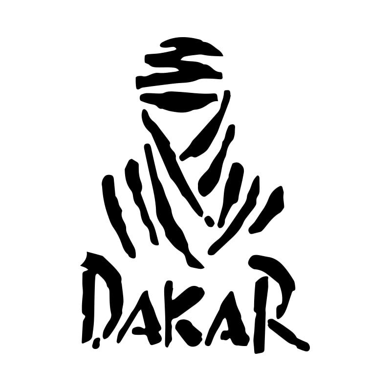 2 uds Universal creativo blanco DAKAR todoterreno reflectante y impermeable pegatina de coche