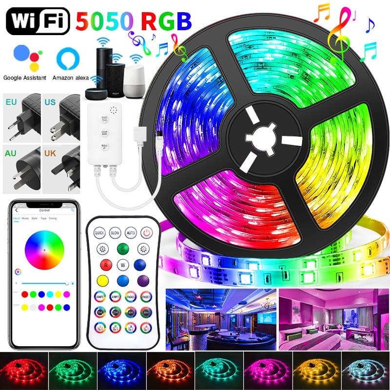 30M WIFI luces de tira de LED Bluetooth RGB Led luz SMD...