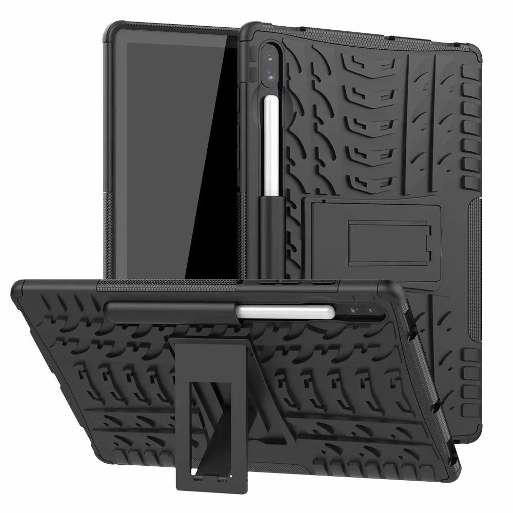 Robuste Abdeckung Stoßfest Harte Silikon Rüstung Telefon Fall für Samsung TAB EINE S2 E S5E S6 S7 10,1 2019 T860 t510 T550 T580 T720 T307