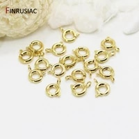 14k gold plated lobster clasp spring clasps for jewelry making diy bracelets necklaces clasps findings craft