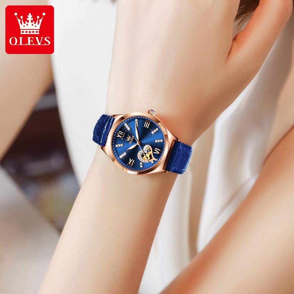 Women's Automatic Mechanical Watches Luxury Brand Fashion Ladies Watch Luminous Waterproof Female Clock Hollow Heart Shape Desig enlarge