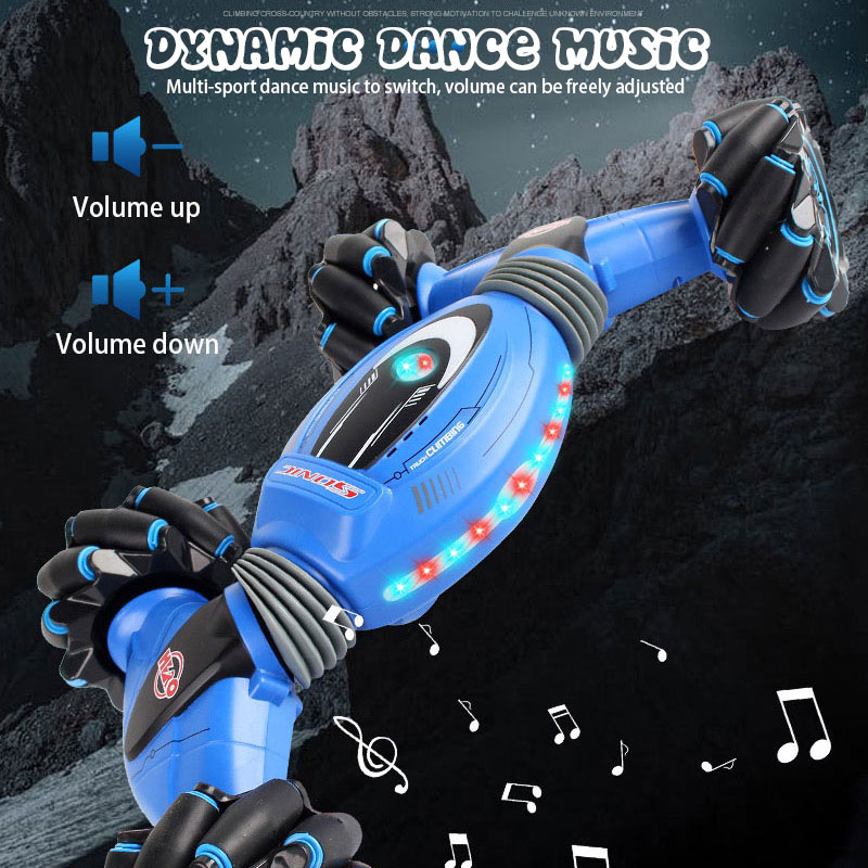 ZWN C1/ C1 MINI 4WD RC CAR Radio Gesture Induction 2.4G Toy Light Music Drift Dancing Twist Stunt Remote Control Car for Kids enlarge