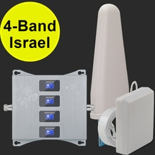 Israël quadri-bande 2g 3g 4g amplificateur de Signal CDMA UMTS LTE 850 900 1800 2100 amplificateur de Signal répéteur de téléphone portable 3g 4g GSM