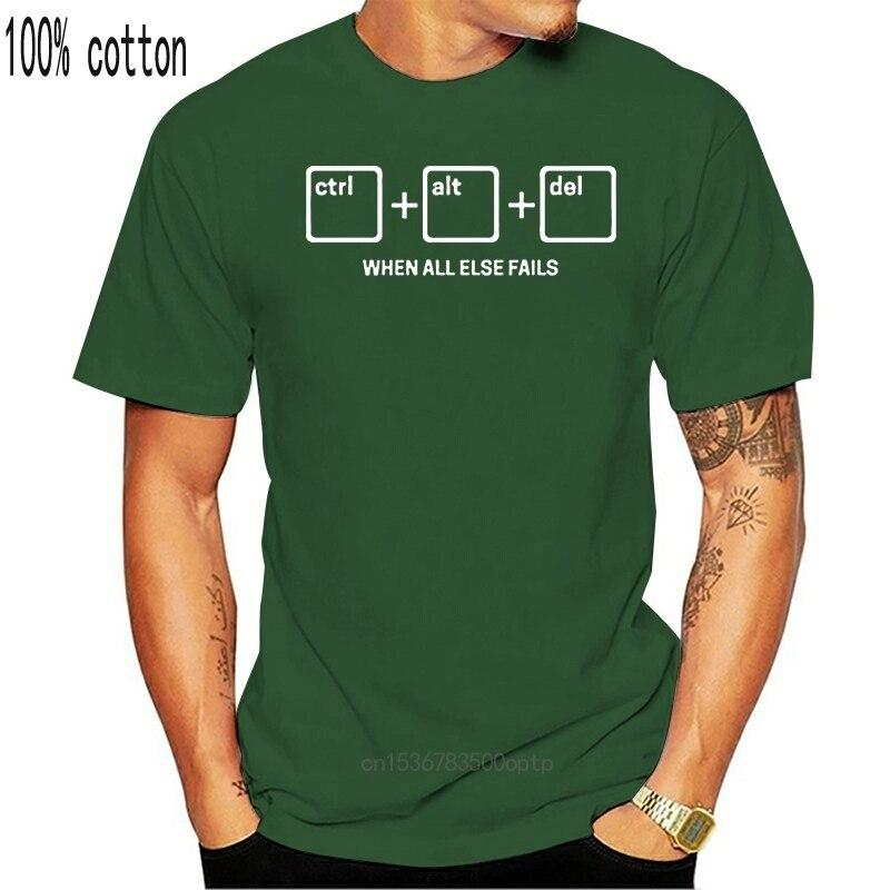 Suporte técnico tshirt-ctrl alt del t camisa-it controle técnico excluir nerd
