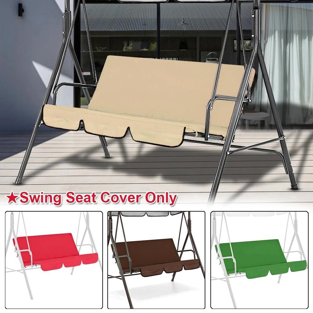 مقعد أرجوحة في الهواء الطلق استبدال غطاء الوسادة 3 مقاعد منصات مقاوم للماء وسادة كرسي باحة لحديقة الفناء الخلفي الحديقة 150 سنتيمتر