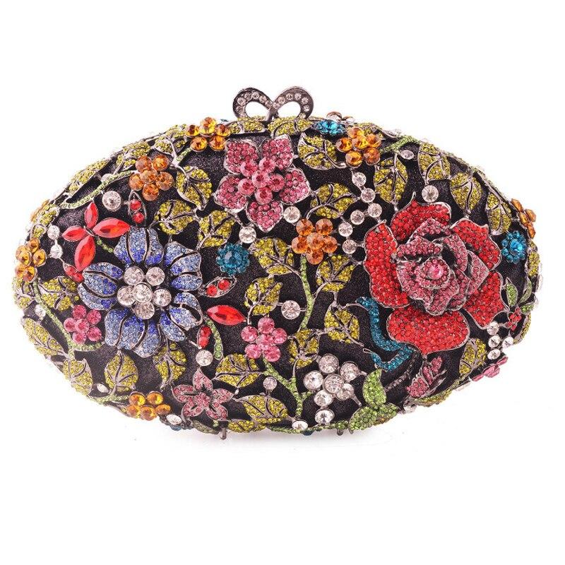 XIYUAN-Bolso de noche colorido con flores para Mujer, Pochette con cuentas de...