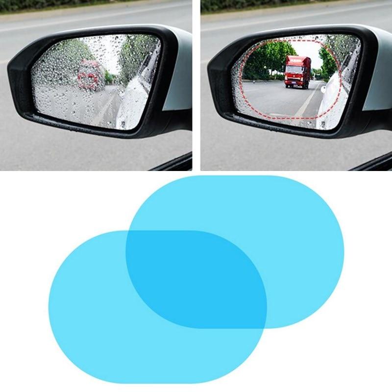 2 uds coche película impermeable para BMW E46 E60 E90 E30 E93 F30 F10 1 3 5 7 Serie A4 A6 Anti lluvia espejo retrovisor etiqueta engomada impermeable