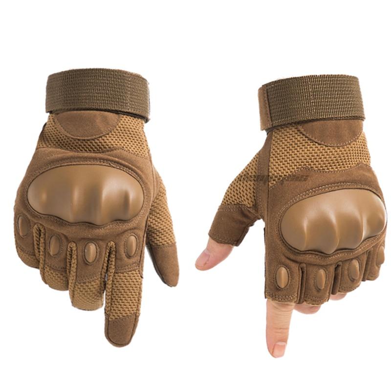 Guantes de combate tácticos Ful & half Finger, guantes militares de protección para deportes de senderismo y caza con pantalla táctil, Airsoft