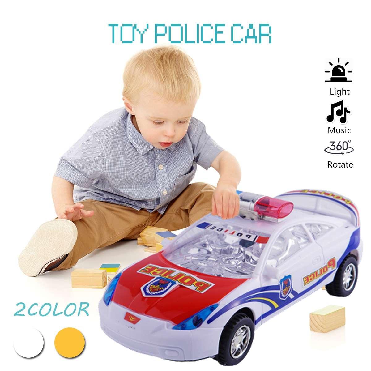 Coches de juguete LED de magia negra con luces parpadeantes, coches de policía brillantes, juguetes educativos para niños y niñas, regalo de cumpleaños, juguetes para niños