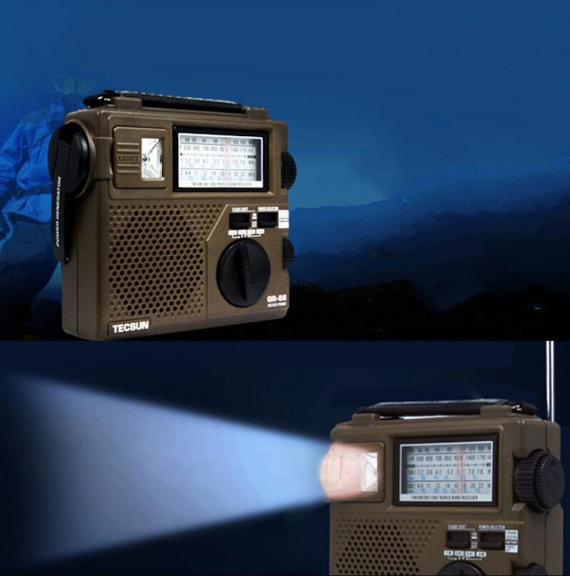 Tecsun Radio AM FM SW1 SW2 Full-Band Radio Hand-cranked Rechargeable Portable Semiconductor Speaker enlarge
