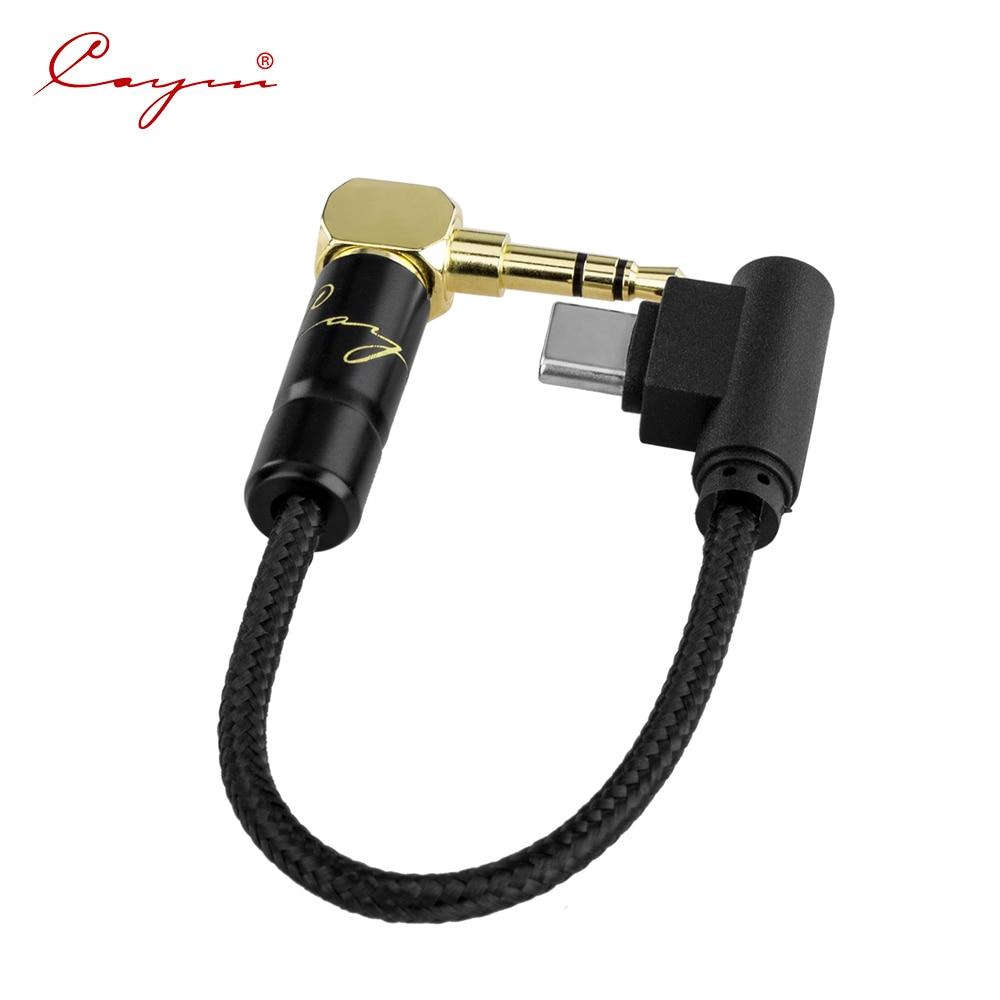 Cayin-Cable Coaxial de CS-40TC35 tipo C a 3,5mm, accesorio compatible con DAC,...