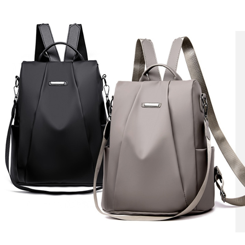 Fashion Women Backpack Canvas Waterproof Anti-Thief Large Bag Girl Travel Female Shoulder for School