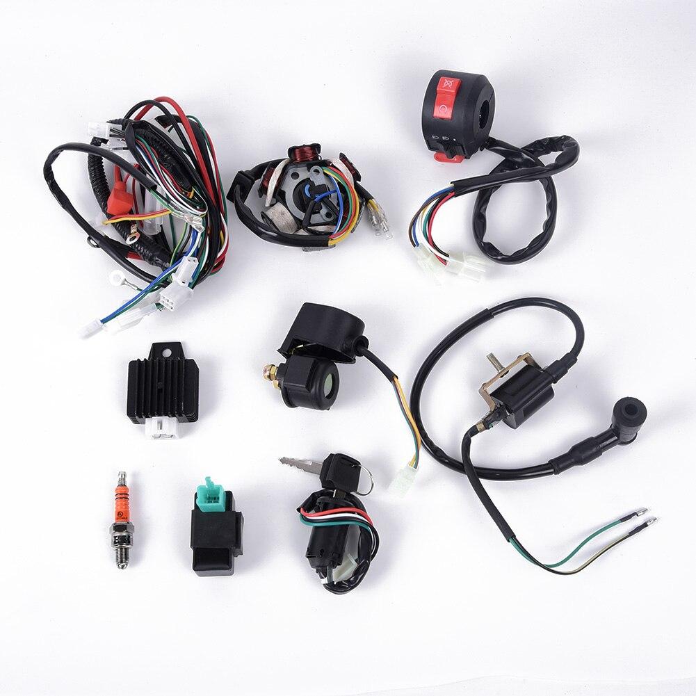 Conjunto de arnés de cables CDI, conjunto de cableado de montaje, cuatriciclo eléctrico chino ATV 50cc-125cc