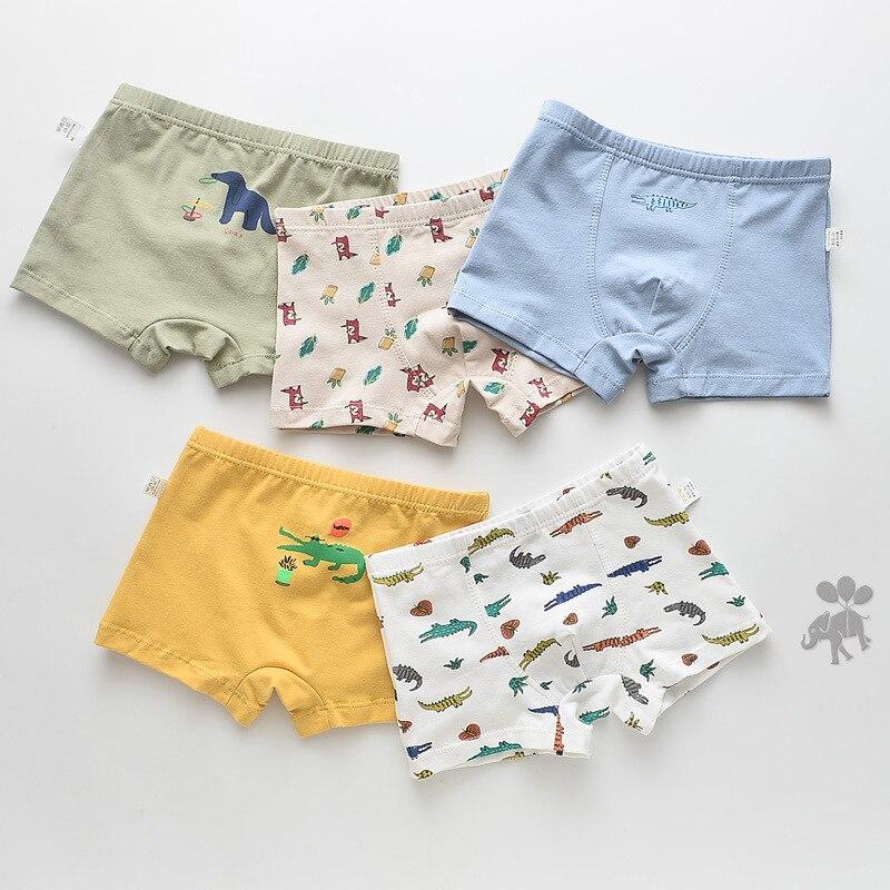 5 unids/lote de ropa interior para niños y niñas, ropa interior, bragas de dibujos animados, ropa interior para niños, ropa interior para niños y niñas