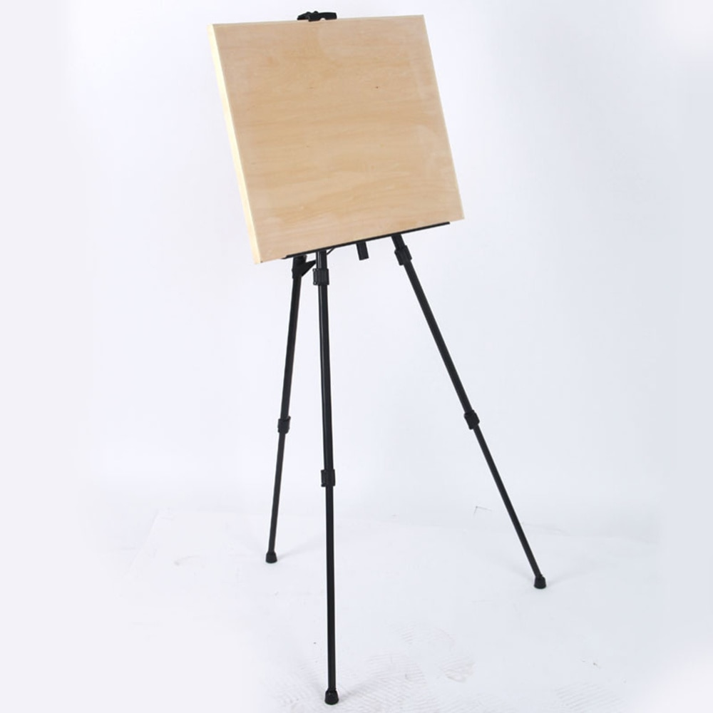 Folding Iron Tripod Portable Canvas Easel Display Stand with Carrying Bag