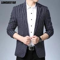 top quality new designer brand casual fashion regular fit striped blazer suit jacket smart trendy cool men fashion men clothes