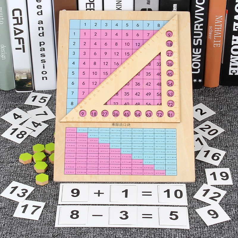 Math Toy wooden Montessori Teaching Educational Toys For Children Multiplication Division Addition and Subtraction Teaching Aids addition and subtraction operation games learning math educational toys wooden parent child kindergarten teaching aids toys