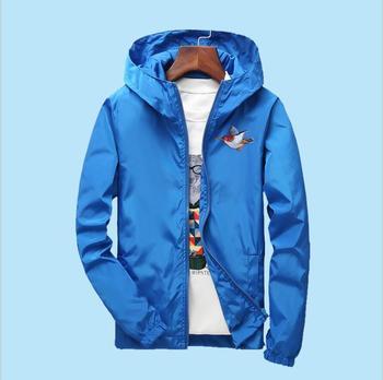 Free Shipping Men Jacket Windbreaker Men's Fashion Jacket Hooded Casual Jackets Male Coat Thin Men's Couple Coat