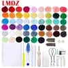 LMDZ 50 colors DIY needle felt acupuncture kit wool felt tool hand-spun craft making ideal gift