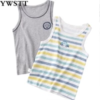 childrens summer vest sleeveless t shirt summer kids outerwear tops clothes cotton camisoles solid toddler tees 2 10t