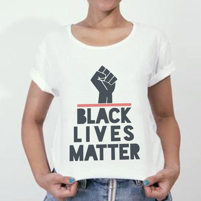 Black Lives Matter camiseta femenina estilo coreano ropa a la moda gráfico High Street Harajuku camiseta Ulzzang mujeres camiseta Casual