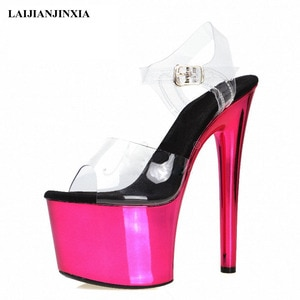 Senior Women's Girl's 17cm High Heels Sandals Sexy Platform Shoes Sandals Pole Dance Shoes High Heel Wedding Shoes