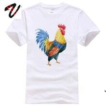 Coq Animal imprimé sur t-shirt personnalisé jeunes vêtements de loisirs pur coton grand t-shirt hommes grande taille livraison gratuite