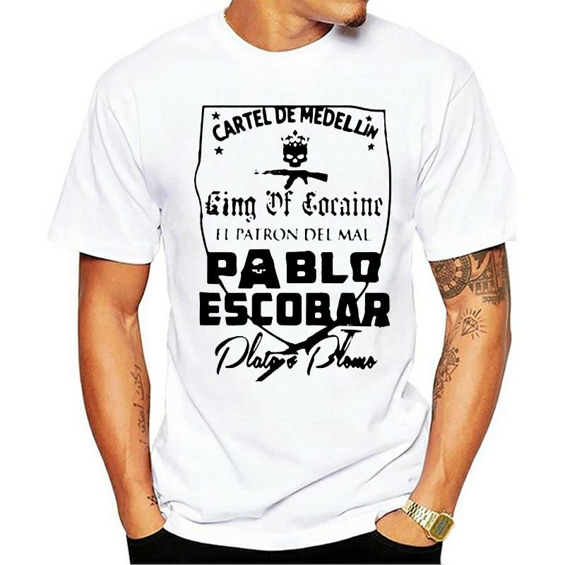 Pablo Escobar T Hemd Medellin Kartell Sicario Plata O Plomo Narco Kolumbien t Sommer Kurzen Ärmeln Baumwolle T-shirt Mode