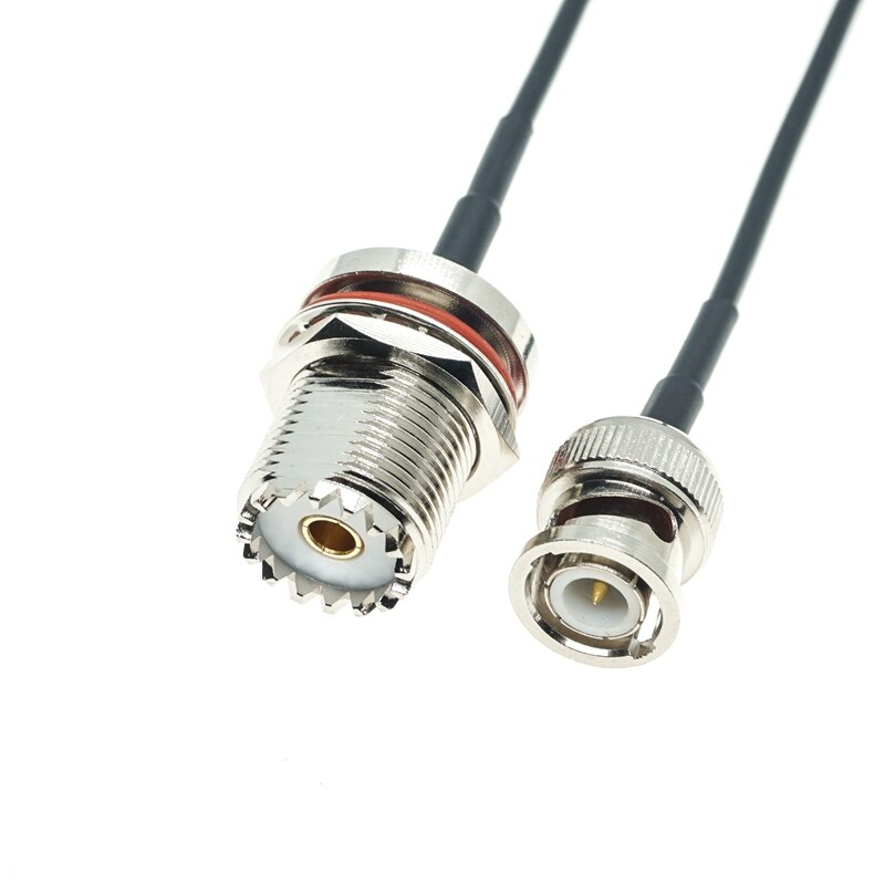 Cloison UHF femelle SO239 vers BNC mâle, RF, câble Coaxial RG174, téléporteur FPV