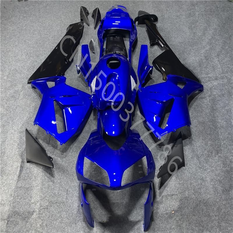 حقن صب هدية لهوندا CBR600RR F5 2003-2004 CBR600RR 03-04 الأزرق الأسود موتو طقم الجسم هدية