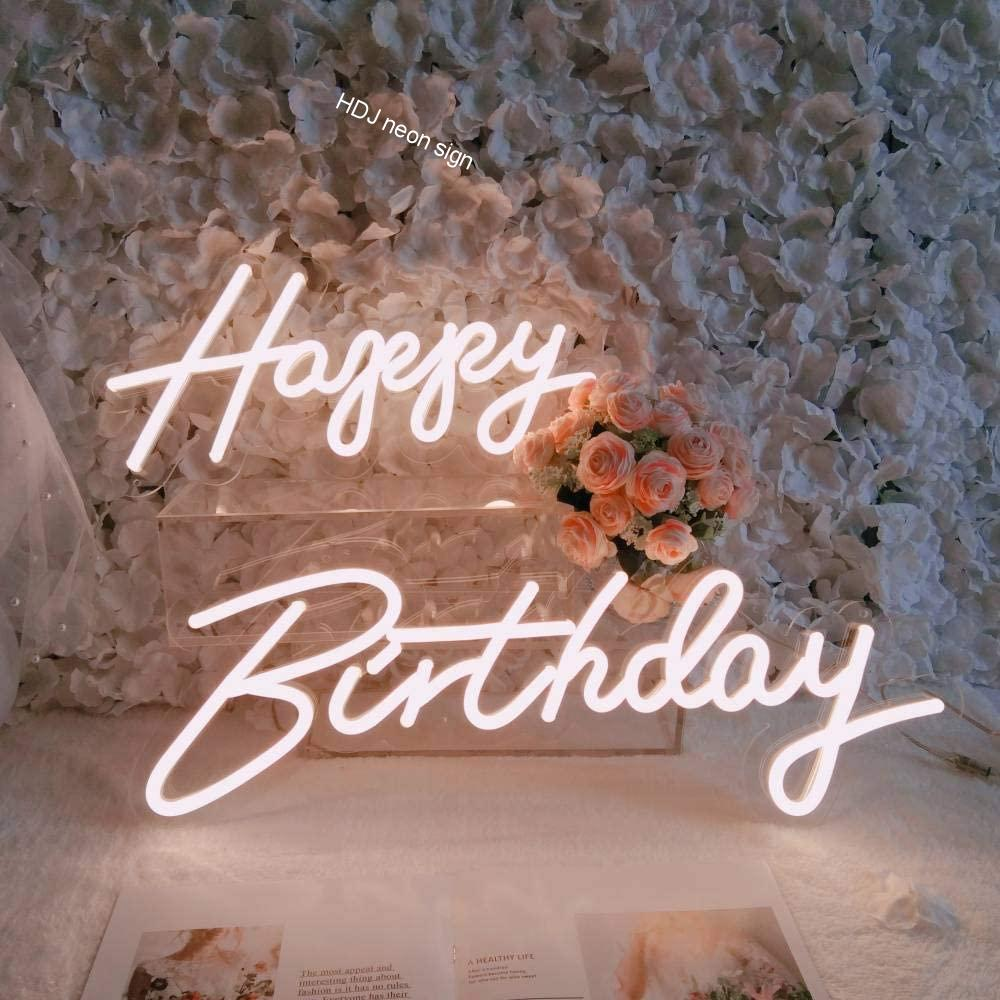 عيد ميلاد سعيد مصابيح إضاءة ليد مخصصة النيون تسجيل مناسبة لحفلة عيد ميلاد الأسرة فندق مطعم المنزل الإبداعية خلفية ديكور ضوء النيون
