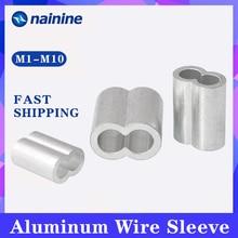 [M1-M12] attaches de câble de virole de câble métallique en aluminium à sertir veste de mandrin de câble métallique en acier B118