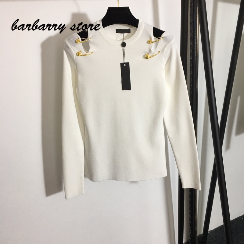 2021 high quality new fashion solid color women's top sexy off shoulder short sweater multi function slim casual knitting shirt enlarge