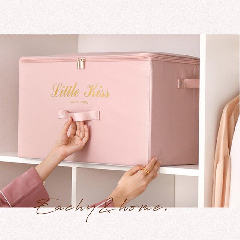 2 قطعة كبيرة قدرة الحرير صندوق تخزين طوي الملابس تخزين اللحاف صندوق تخزين اللعب أشتات خزانة تخزين منظم XL صندوق تخزين