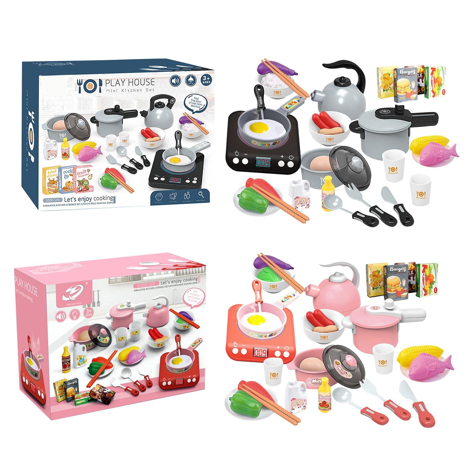 29 детских кухонь, игрушечные наборы для приготовления пищи, наборы для приготовления кастрюль и сковородок, детский подарок для обучения де...