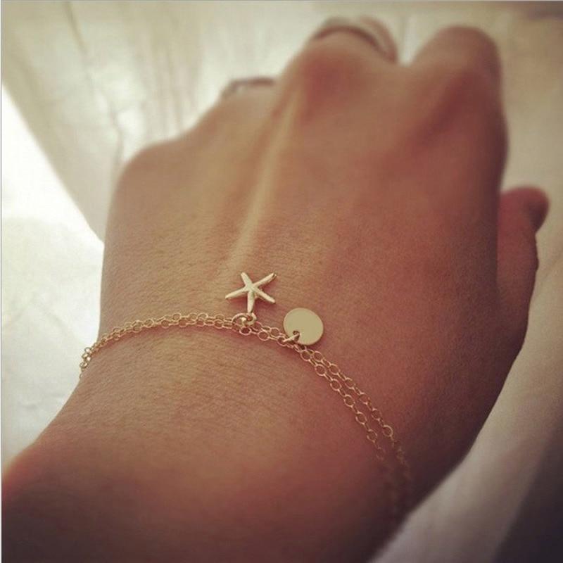 Multilayer Bracelets for Women Tassel Couple Bracelet Starfish Fashion Jewelry Bohemia Armband Wholesale Bulk Pulseras