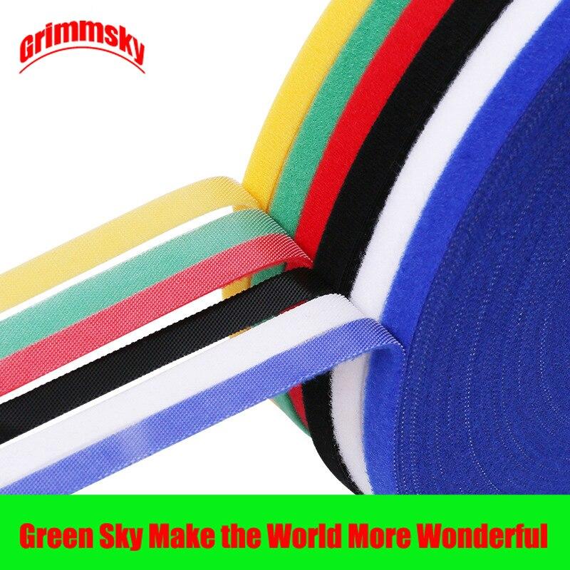 5M/rollo tamaño 5MX10MM accesorios de costura de alambre multifunción colorido Velcro bridas de Cable