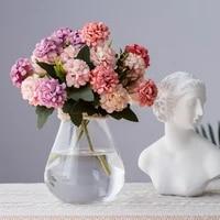 30cm artificial silk hydrangea flowers bouquet wedding decoration 10 pcs head flowers bridal bouquet party home desktop decor