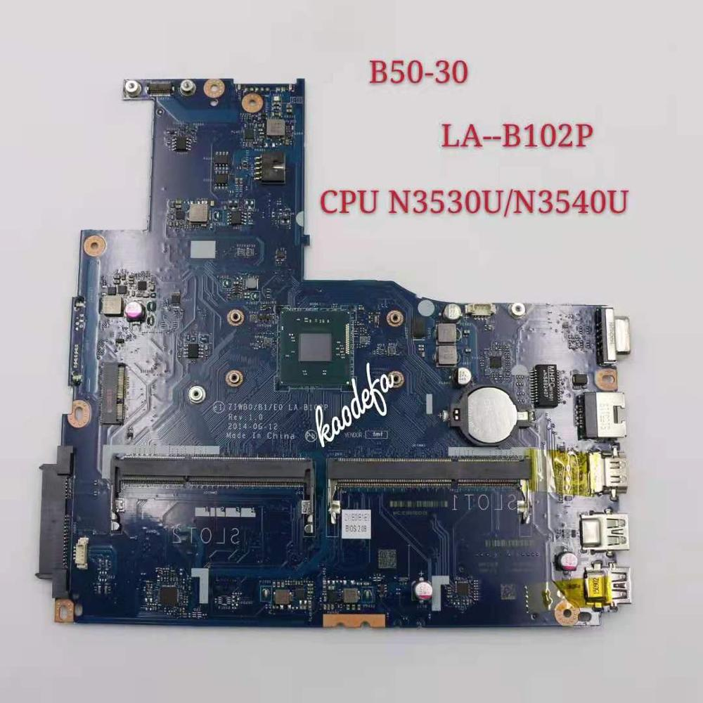 لينوفو B50-30 اللوحة LA-B102P CPU N3530 N3540 FRU 5B20G90135 100% اختبار موافق