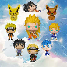 Funko Pop Amine Dragon Ball NARUTO (Mode Sage) KURAMA SUPER SAIYAN GOKU grand végéta SASUKE figurine à collectionner modèle en vinyle