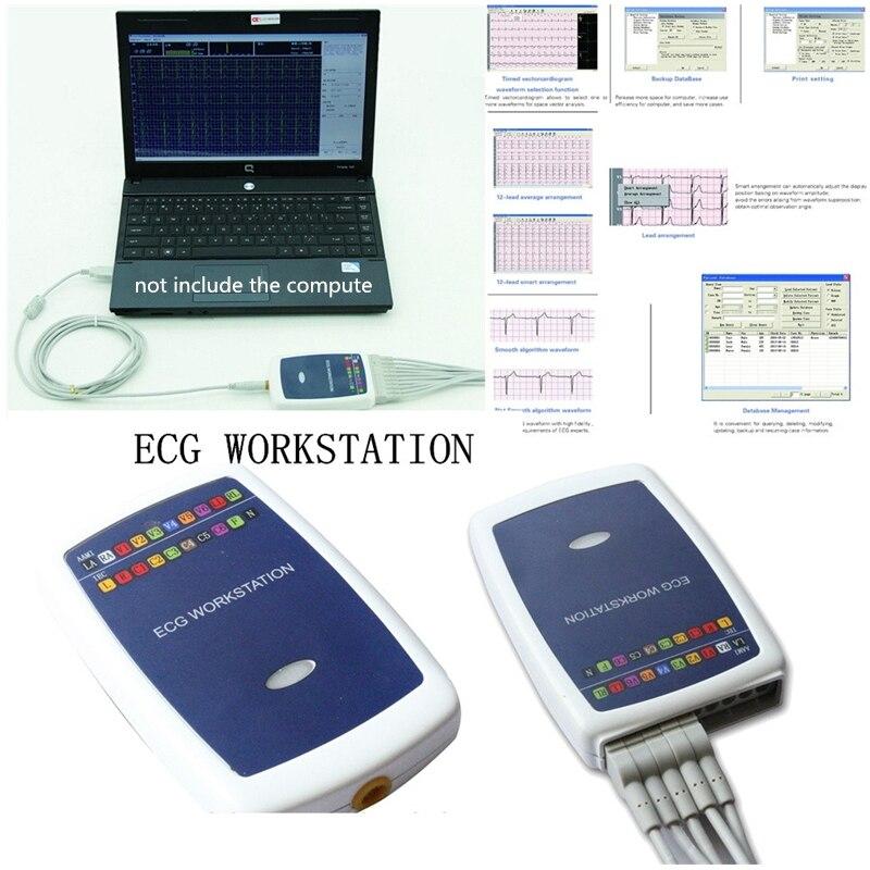 محطة عمل ECG جديدة ، علامة تجارية CE CONTEC8000G ، تعتمد على 12 نظام تسجيل محلل رصاص