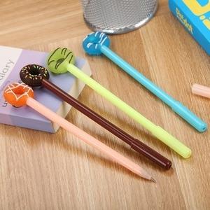 20 шт. креативные канцелярские принадлежности, набор ручек с гелевыми чернилами пончики, милые инструменты для письма конфетных цветов, школ...
