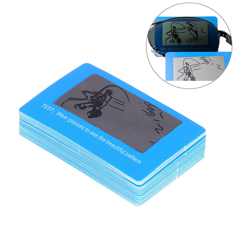 Polarization test card Sunglasses test card Driver mirror test paper Fishing pattern glasses accessories
