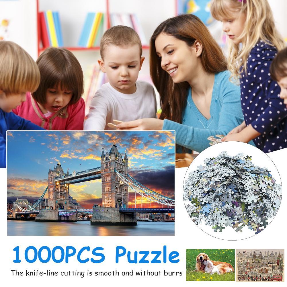 ¡Producto en oferta! Puzle de 1000 piezas, juguetes educativos para bebés en 3d para niños y adultos, puzles con hermosos paisajes, soporta Dropshipping