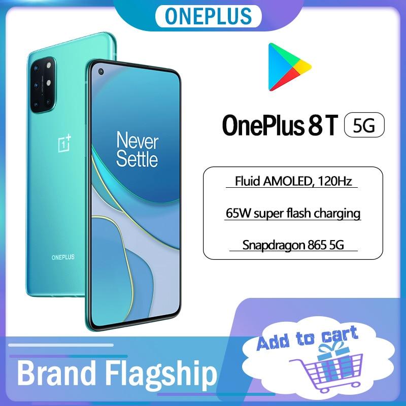 Смартфон OnePlus 8T, 12 + 256 ГБ, Snapdragon 865, 120 Гц, AMOLED экран, 65WCharge
