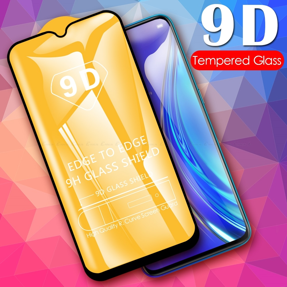 Cubierta completa 9D vidrio templado para Realme X3 Super Zoom 6S 6i C3 X50m X50 6 XT X2 5 5s 3i 3 Pro C2 Q X Lite película protectora de pantalla